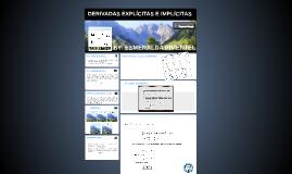 Copy of DERIVADAS EXPLÍCITAS E IMPLÍCITAS