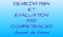 Copy of Copy of Remédiation et évaluation par compétences