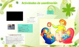 ACTIVIDADES DE COORDINACION