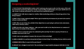 Designing a marketing brief