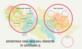 Roundtable 2015-2016 Fall Semester