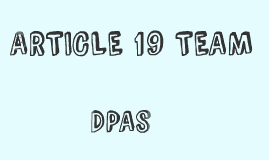 ARTICLE 19 TEAM