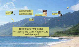 Copy of THE MUSIC OF MINDORO