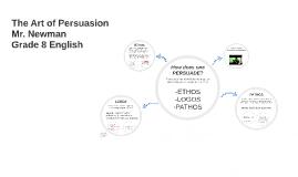 Copy of The Art of Persuasion (ETHOS, LOGOS, PATHOS)