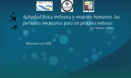 Actividad física inclusiva y recursos humanos: las personas