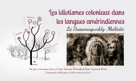 Idiotismes coloniaux dans les langue amérindiennes