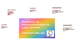 Donations- og medlemskampagne fra LGBT Danmark
