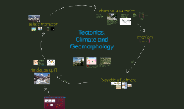 Tectonics, Climate and Geomorphology