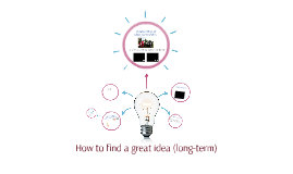 How to find a great idea (long-term)