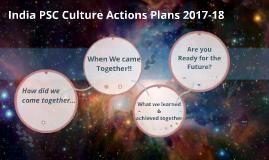 India PSC Culture Actions Plans 2017-18