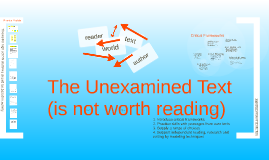 The Unexamined Text (is not worth reading)