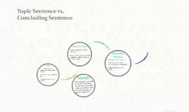 Topic Sentence vs.