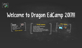 Welcome to Dragon EdCamp 2016!!!