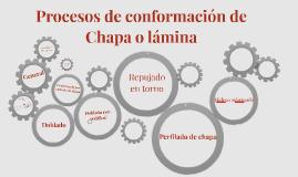 Procesos de conformación de Chapa o lámina