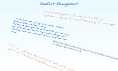 Conflict Manegment