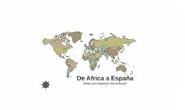 De Africa a España