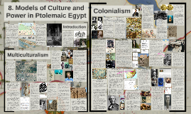 8. Models of Culture and Power in Ptolemaic Egypt