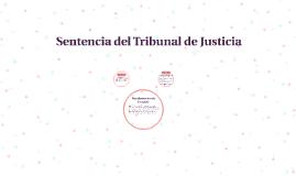 Sentencia del tribunal de justicia