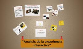 Copia de Análisis de la experiencia interactiva