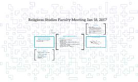 Religious Studies Faculty Meeting Jan 18, 2017