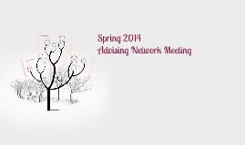 Spring 14 Advising Network Agenda