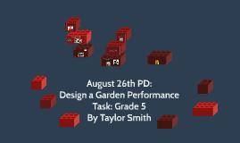 August 2015 PD Math Performance Tasks