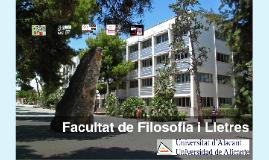 2017-2018 Filosofia i Lletres UA