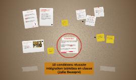 10 conditions réussite intégration tablettes en classe