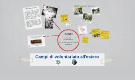 Campi di volontariato all'estero