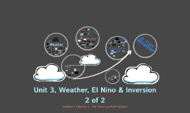 Unit 3 - Weather, El Nino/La Nina, Inversion; File 2 of 2