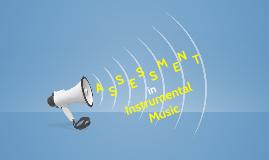 Assessment in Instrumental Music