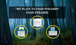 """MY PLATE VS FOOD PYRAMID"""