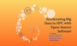 Accelerating Big Data in HPC with Open-Source Software