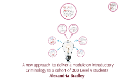 A new approach  to deliver a module on introductory Crimin