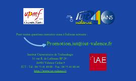 Promotion IUT Valence - GEA et TC