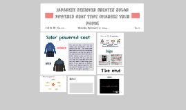 solar powered coat
