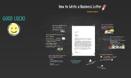Copy of Copy of How to Write a Business Letter