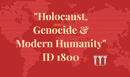 "Copy of ""The Holocaust, Genocide & Modern Humanity"""