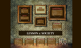 LESSON 1: SOCIETY
