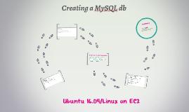 Creating a MySQL Db