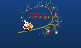 The Big 2014 Christmas Quiz
