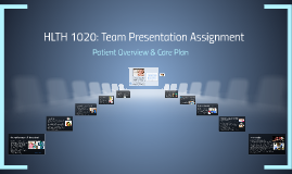 HLTH 1020: Team Presentation Assignment