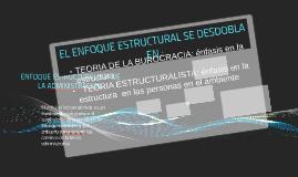 ENFOQUE ESTRUCTURALISTA DE LA ADMINISTRACION