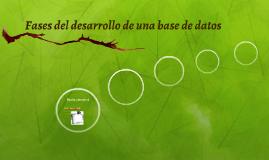 Fases del desarrollo de una base de datos