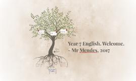 Year 7 English. Welcome.