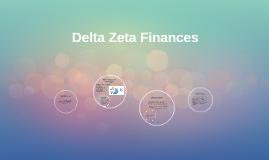 Delta Zeta Finances