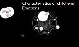 Copy of Characteristics  of Childrens' Emotions
