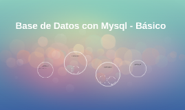 Base de Datos Mysql - Básico