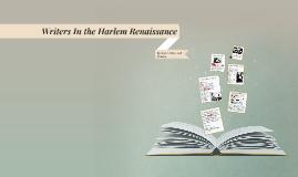 Writing In the Harlem Renaissance