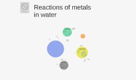 Copy of reactions of metals in water